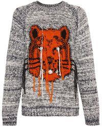 KENZO Pullover Aus Wollstrick Mit Intarsien - Mehrfarbig