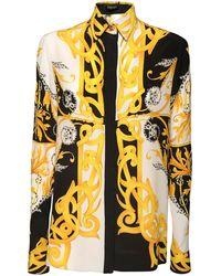 Versace - シルクツイル プリーツミニスカート - Lyst