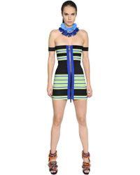DSquared² - Striped Elastic Bandage Bodycon Dress - Lyst