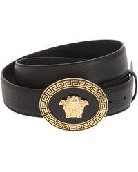 Versace - 35mm Medusa Buckle Leather Belt - Lyst