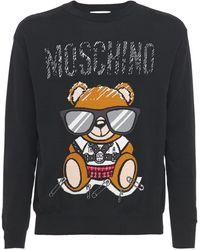 Moschino Teddy コットンスウェットシャツ - ブラック