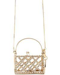 Rosantica Baby Garofano Crystal Long Necklace Bag - Металлик