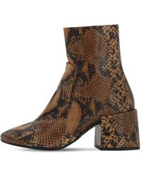 Jeffrey Campbell 70mm Python Print Leather Boots - Brown