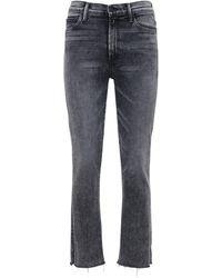 "Mother - Jeans Vita Alta ""rascal"" - Lyst"