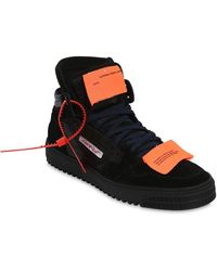 "Off-White c/o Virgil Abloh Sneakers Aus Nylon Und Wildleder ""off Court"" - Schwarz"