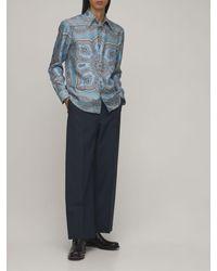 Etro Paisley シルクシャツ - ブルー