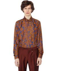 Lords & Fools - Floral Printed Silk Twill Shirt - Lyst