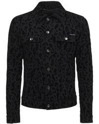 Dolce & Gabbana コットンデニムジャケット - ブラック