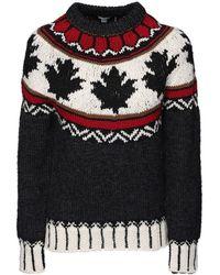 DSquared² Maple Leaf ウールセーター - ブラック