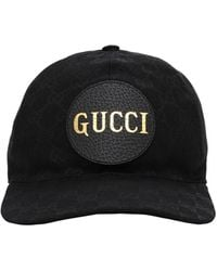 Gucci Gg Canvas Baseball Hat In Black & Black - Schwarz