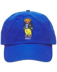 Polo Ralph Lauren Кепка Bear Из Хлопка С Вышивкой - Синий