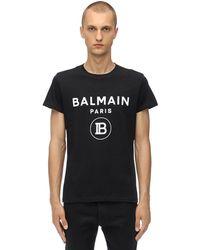 Balmain T-Shirt In Jersey Di Cotone - Nero