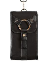 Versace ナイロン&レザークロスボデバッグ - ブラック