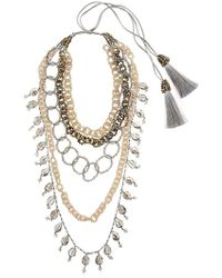 Night Market | Dropped Multi Chain Beaded Necklace | Lyst