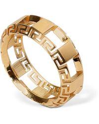 Versace Ring Mit Greek-motiv - Mettallic