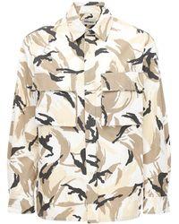 KENZO Рубашка Из Хлопка С Принтом - Естественный