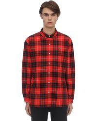 Lacoste - コットン チェックシャツ - Lyst