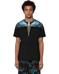 Marcelo Burlon T-Shirt In Jersey Di Cotone - Nero