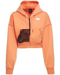 Nike ジップアップフリーススウェットシャツ - オレンジ