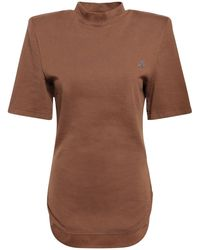 The Attico Tessa コットンジャージーtシャツ - ブラウン