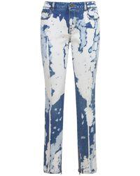 Tom Ford Bleached Denim Skinny Jeans - Blue