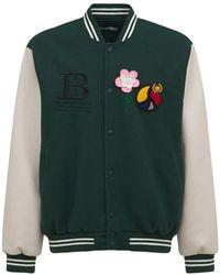 BEL-AIR ATHLETICS Embroidered Varsity Jacket - Green