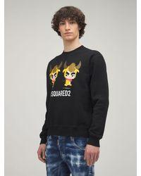 DSquared² Year Of The Ox コットンジャージースウェットシャツ - ブラック