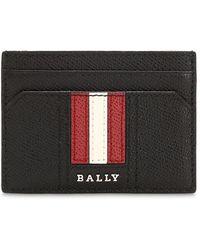 Bally レザー カードホルダー - ブラック