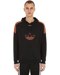 exclusive deals another chance super quality adidas Basketball Flock Trefoil Black Hoodie for Men - Lyst