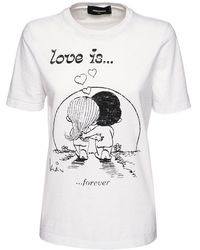 DSquared² - Renny Fit Love Is ジャージーtシャツ - Lyst