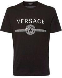 Versace - Футболка Из Хлопкового Джерси С Принтом Логотипа - Lyst