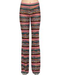 Missoni Pantalones Acampanados De Punto De Lana - Multicolor
