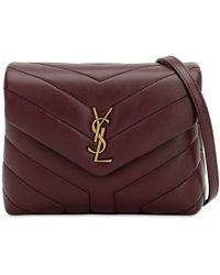 Saint Laurent - Toy Loulou Monogram Leather Bag - Lyst