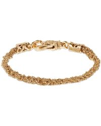 Emanuele Bicocchi Crocheted Chain Bracelet - Metallic