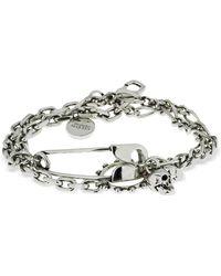 Alexander McQueen Armband Mit Anhängern - Mettallic