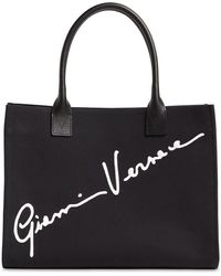 Versace Сумка-тоут С Вышивкой Signature - Черный