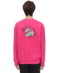 """The North Face Sweatshirt """"masters Of Stone"""" - Lila"""