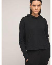 James Perse Sweat-shirt Relaxed Court En Coton À Capuche - Noir