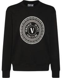 Versace Jeans Couture Свитшот Из Хлопка С Логотипом - Черный