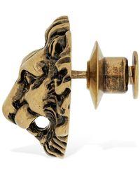 Gucci Lion Head Motif Brooch - Metallic