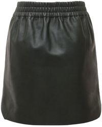 Bottega Veneta レザーミニスカート - グリーン
