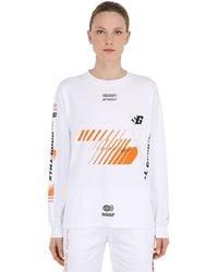Still Good Vision Long Sleeve Cotton Jersey T-shirt - White