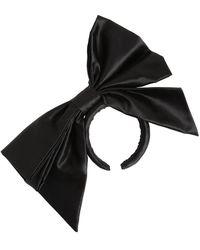 Moschino Silk Duchesse Bow Headband - Black