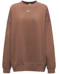 Nike コットンブレンドスウェットシャツ - ブラウン