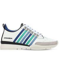 DSquared² 251 Stripes レザースニーカー - ブルー