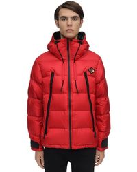Burberry Hooded Nylon Down Jacket - Red
