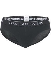Polo Ralph Lauren 3 Pack Logo Low Rise Briefs - Black