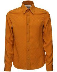 Gucci Hemd Aus Seidenkreppjacquard - Orange