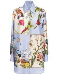 Ferragamo Рубашка Из Шёлковой Саржи С Принтом - Многоцветный
