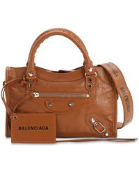 "Balenciaga Mini Ledertasche ""classic City"" - Braun"